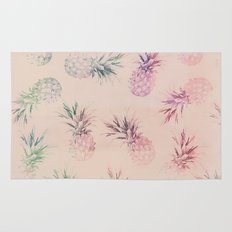Soft Pastel Pineapple Pattern Rug