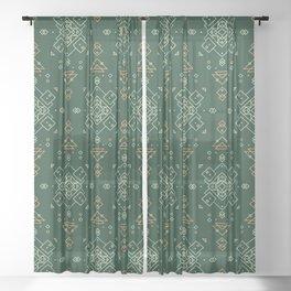 Tender Forester Seamlesss Pattern Sheer Curtain