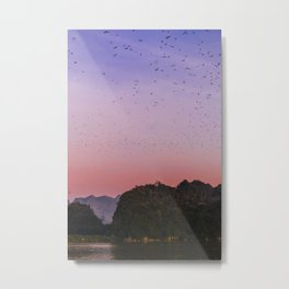 Pink sunset in Hpa-An Myanmar | Asia Fine art | Color - pink - travel - photography - Art print Metal Print