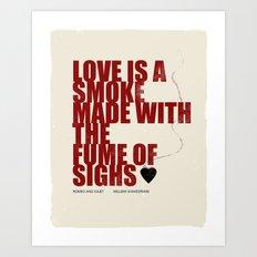 Love Is The Smoke Art Print