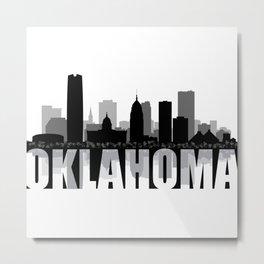 Oklahoma Silhouette Skyline Metal Print
