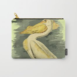American Pelican Vintage Bird Art Carry-All Pouch