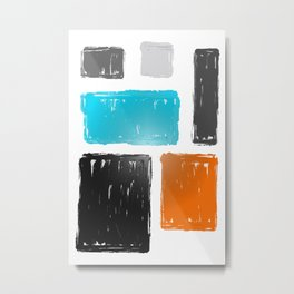 Abstract Acrylic Art Colorful Squares Metal Print