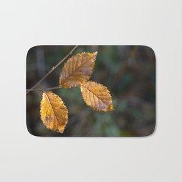 Leaves in Light Bath Mat