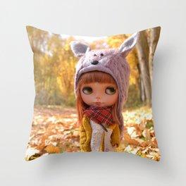 Honey - Autumn nature Throw Pillow