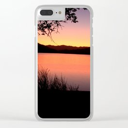 LAKE HENNESSEY - NAPA CALIFORNIA - SUNSET REFLECTION Clear iPhone Case