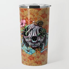 The Skull the Flowers and the Snail CoLoR Travel Mug