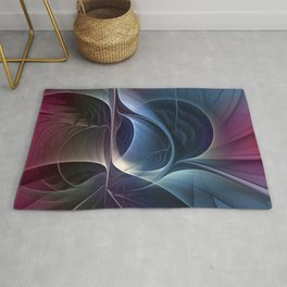 Fractal Mysterious, Colorful Abstract Art Rug