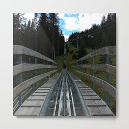 adventure park hög schneisenfeger coaster alps sfl tyrol austria europe Metal Print