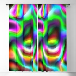 Retro 70's Blurred Psychedelic Abstract Pattern No1 Blackout Curtain