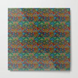 Tribal mosaic pattern Metal Print