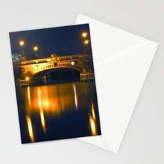 BERLIN NIGHT on the RIVER SPREE Stationery Cards