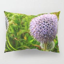 Purple Spherical Flower Pillow Sham