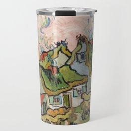 Houses and Figure by Vincent Van Gogh, 1890 Travel Mug
