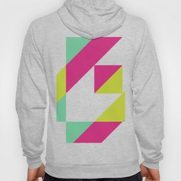 Hot Pink and Neon Chartreuse Color Block Hoody