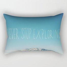 Never Stop Exploring: Mount Rainier Rectangular Pillow