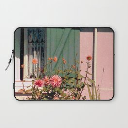 Cottage with Flowers Laptop Sleeve