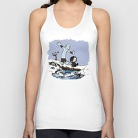 hobbes Tank Tops featuring Jon and Hobbes beyond the wall by BovaArt