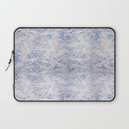 Blue chipboard texture abstract Laptop Sleeve