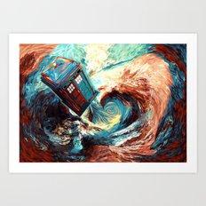 Tardis doctor who at starry night Dark Vortex iPhone 4 4s 5 5c 6, pillow case, mugs and tshirt Art Print