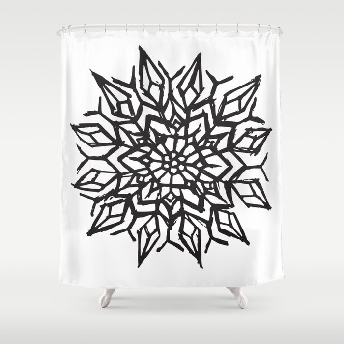 Cosmic Flower Shower Curtain