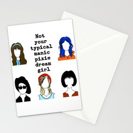 not your typical manic pixie dream girl Stationery Cards