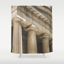 Federal Hall, New York photography, architecture, building, Hasselblad, Fine art Shower Curtain