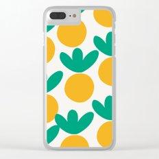Minimalist Fruit Summer Pattern Clear iPhone Case