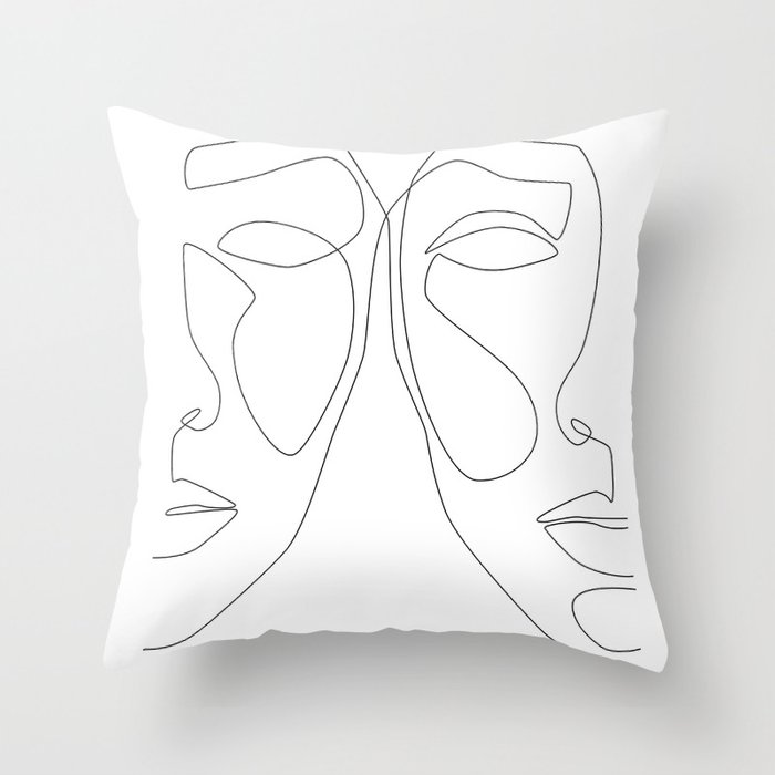Double Face Throw Pillow