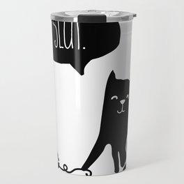Insult Animals - Slut Cat Travel Mug