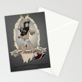 Super Beard Boy - Framed Justice! Stationery Cards