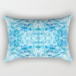 Crystal Stone - In Teal Aqua & Blue Rectangular Pillow