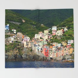 Riomaggiore Italy Throw Blanket