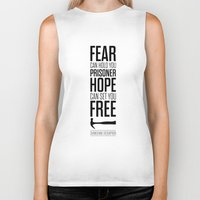 stephen king Biker Tanks featuring Lab No. 4 - Hope Inspirational Quote by Stephen King Inspirational Quotes by Lab No. 4