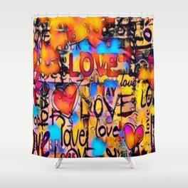 Graffiti Love Shower Curtain