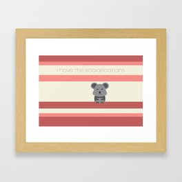 Koalafication Framed Art Print