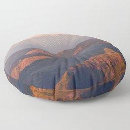 Alps in Morninglight Floor Pillow
