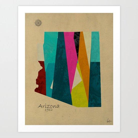 Arizona state map Art Print