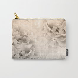 Sepia Peonies Dream #1 #floral #decor #art #society6 Carry-All Pouch