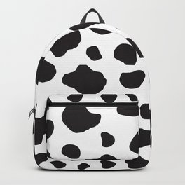 Animal Print (Cow Print), Cow Spots - White Black Backpack