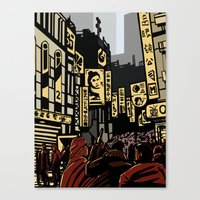 blade runner Canvas Prints featuring Blade Runner by A. Provost