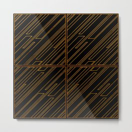 Art Deco Golden Lines Metal Print
