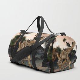 Awesome t-rex skeleton Duffle Bag