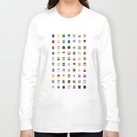 philippines Long Sleeve T-shirts featuring Minimalism beloved Videogame Characters by Fabian Gonzalez