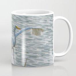 Egret On Final Approach Coffee Mug