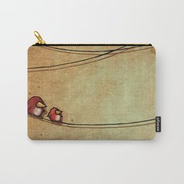 Rustic Bird Print, Country, Chic Look Carry-All Pouch