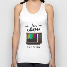 Cities you'll never see on screen - Lorde Unisex Tank Top