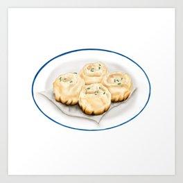 Dim Sum | Pan Fried Dumplings | 生煎包 Art Print