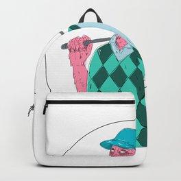 Golfer Golf Club Circle Grime Art Backpack