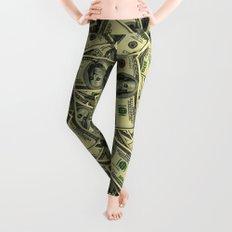 100 dollar cash get rich Leggings
